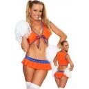 Kostum navijačica Orange Cheerleader