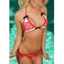 Kopalke bikini Dolly Red & White