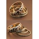 Zapestnica  Punk Leopard