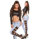 Jeans hlače Skinnies bordure