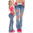 Jeans hlače Acid Wash
