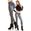 Jeans hlače lace & rhinestones