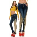 Jeans hlače Koucla Skinnies with golden lace