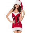 Kostum Božička Christmas Babe Halter Dress
