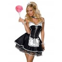 Kostum sobarice French Maid  Polka Dot  4 delni