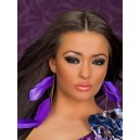 Uhani s peresi Purple Feather