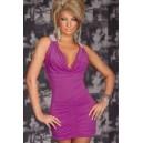 Obleka kratka tunika Daniela Purple