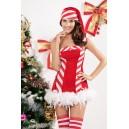 Kostum Božička Santa Candy